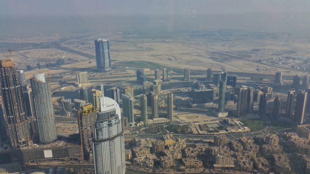 Widok znajwyższego budynku świata - Burji Khalifa